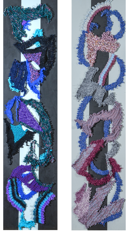 Colorful Cut-Up I and Colorful Cut-Up II  15 X 60
