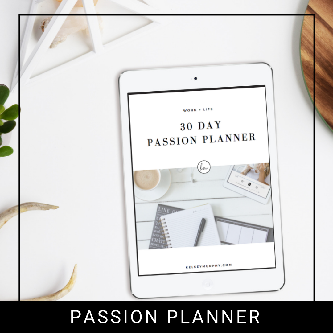 FREE 30 DAY PASSION PLANNER  - Find Your Passions in your curiosities utilizing this jam-packed 30-day planner.