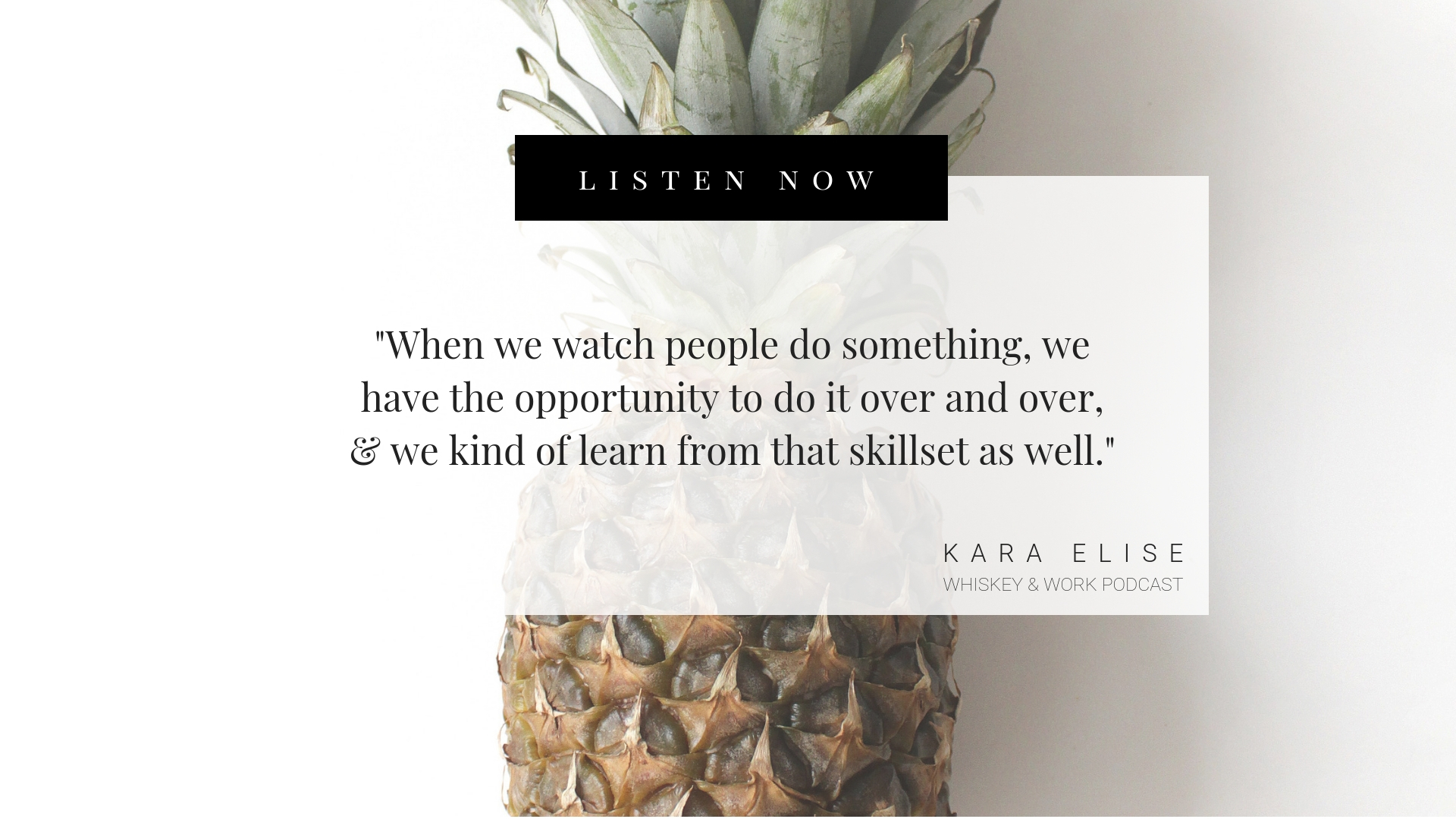 Kara Elise Whiskey and Work Podcast with Kelsey Murphy