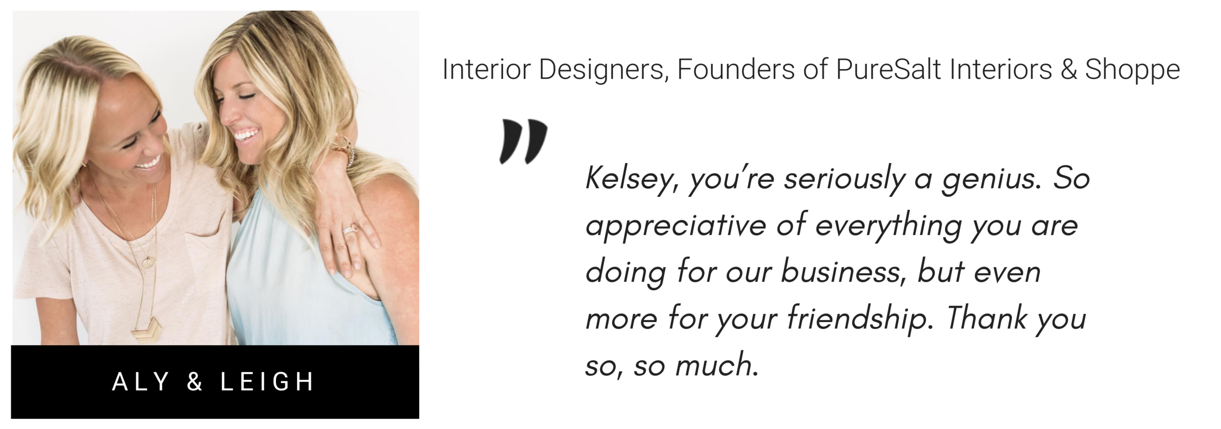 pure salt interiors quote about Kelsey murphy