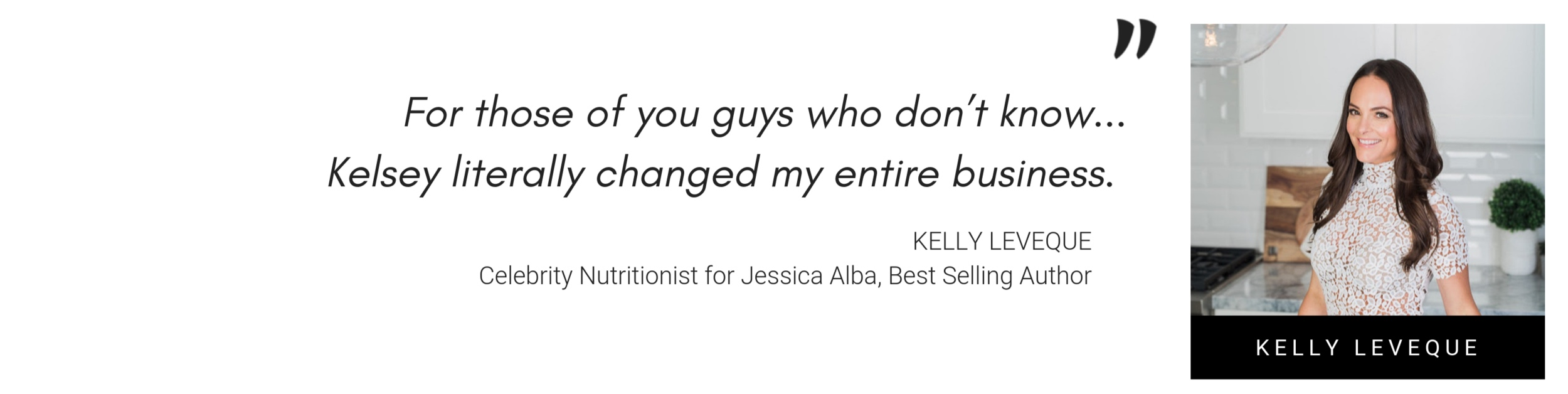 kelly leveque promotional quote about Kelsey Murphy