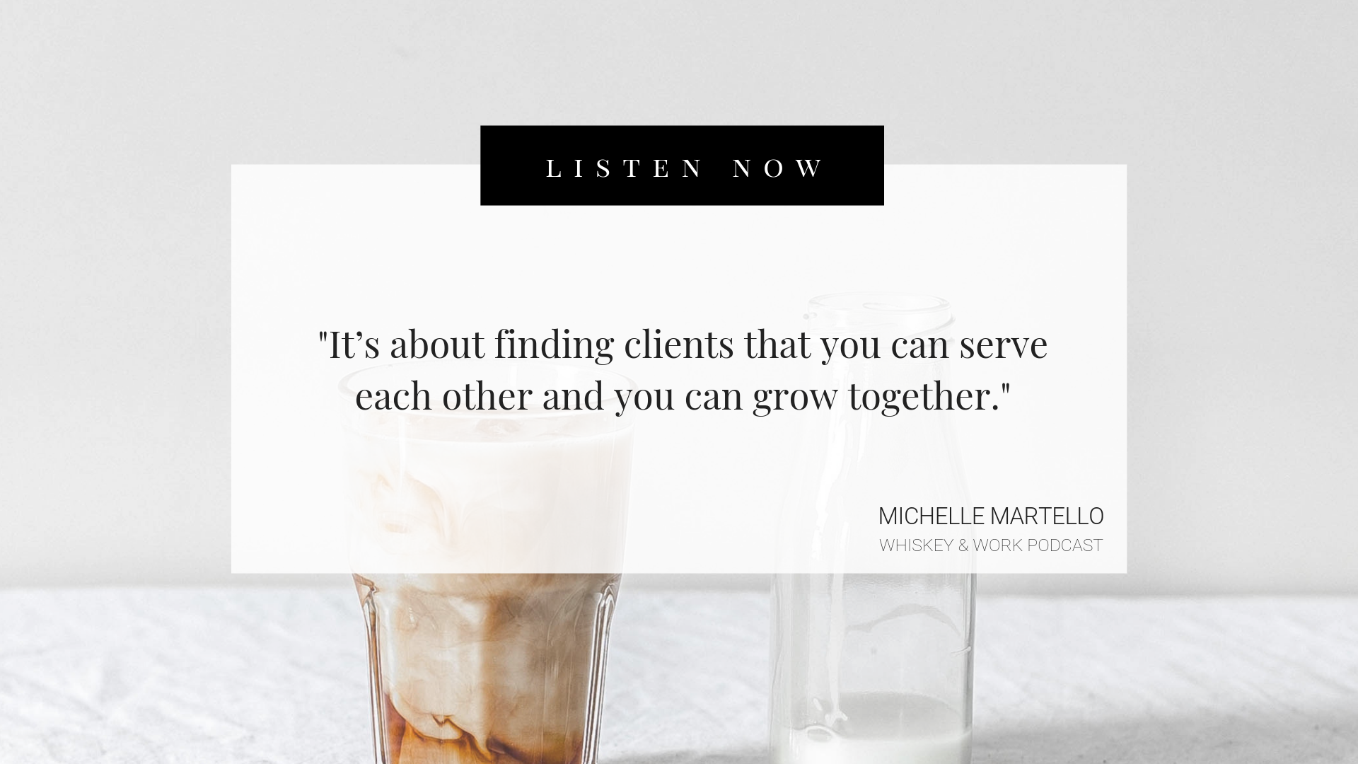 Michelle Martello Whiskey and Work Podcast with Kelsey Murphy