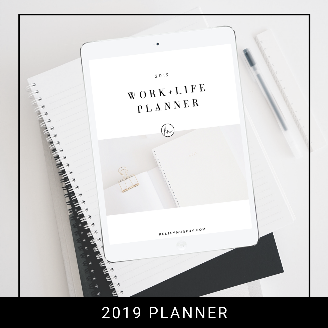 FREE 2019 WORK + LIFE PLANNING WORKSHOP  - You + Me + Coffee (or wine - I don't judge And whole lot of WORK + LIFE Planning.