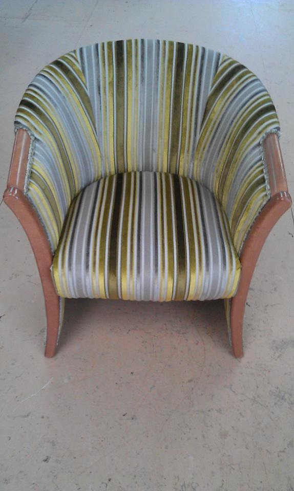 Stripe Tub Chair in shades of Green