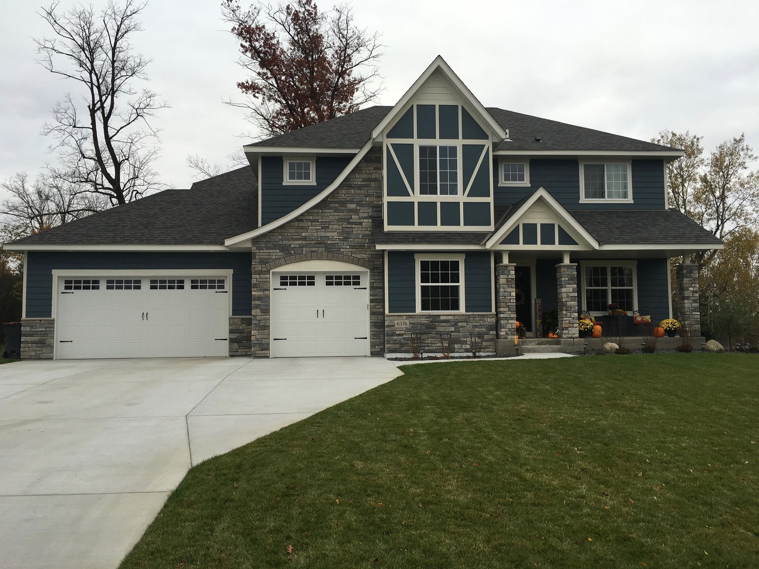 Custom two story home built by Bravo Homes by Dean Croat Construction