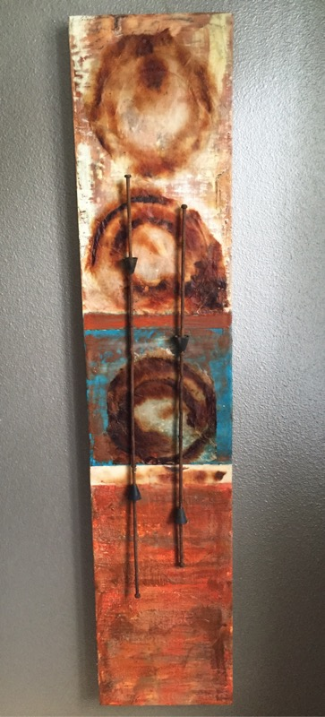 "12""x48"" Cradled Mixed Media (sold)"