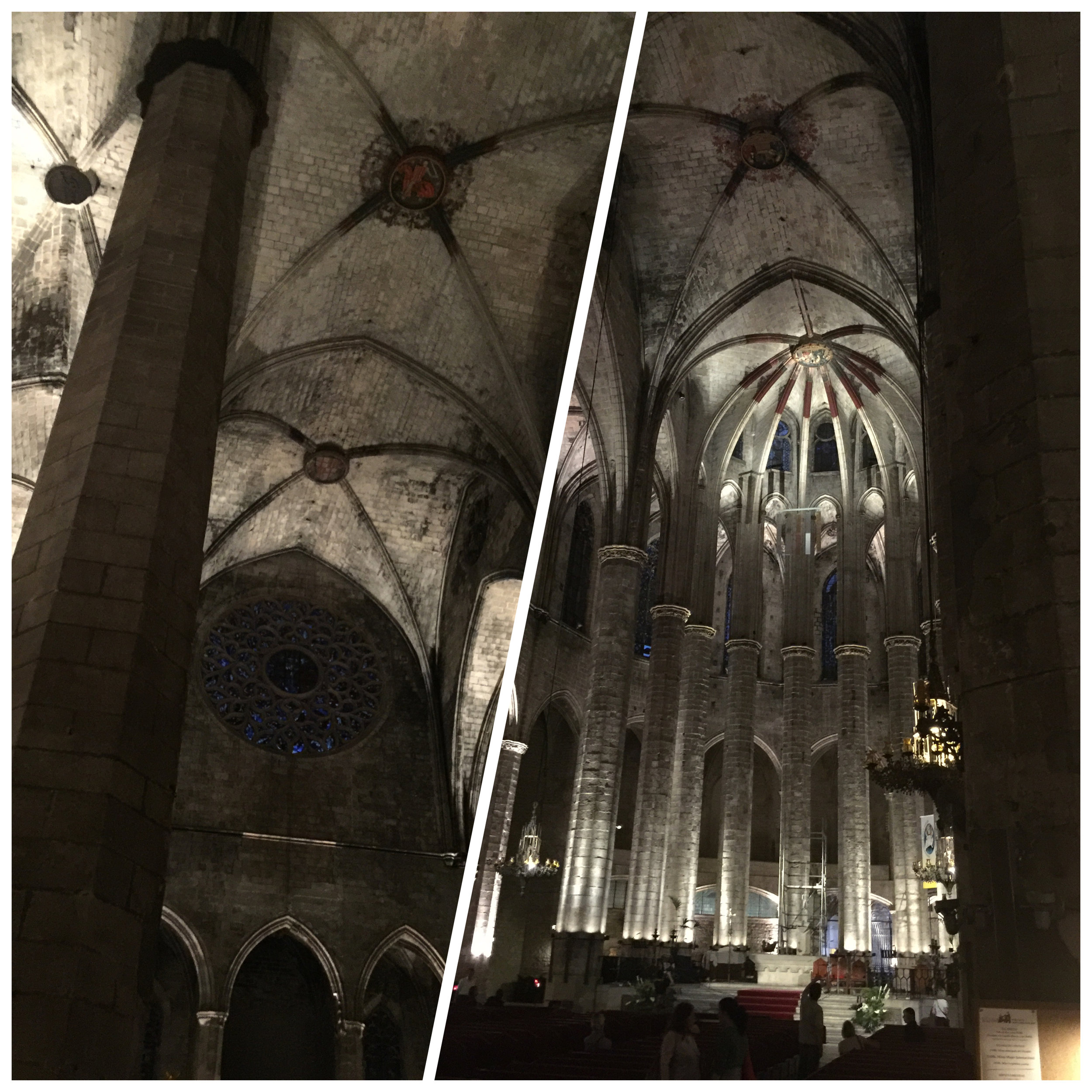 Night view inside a church
