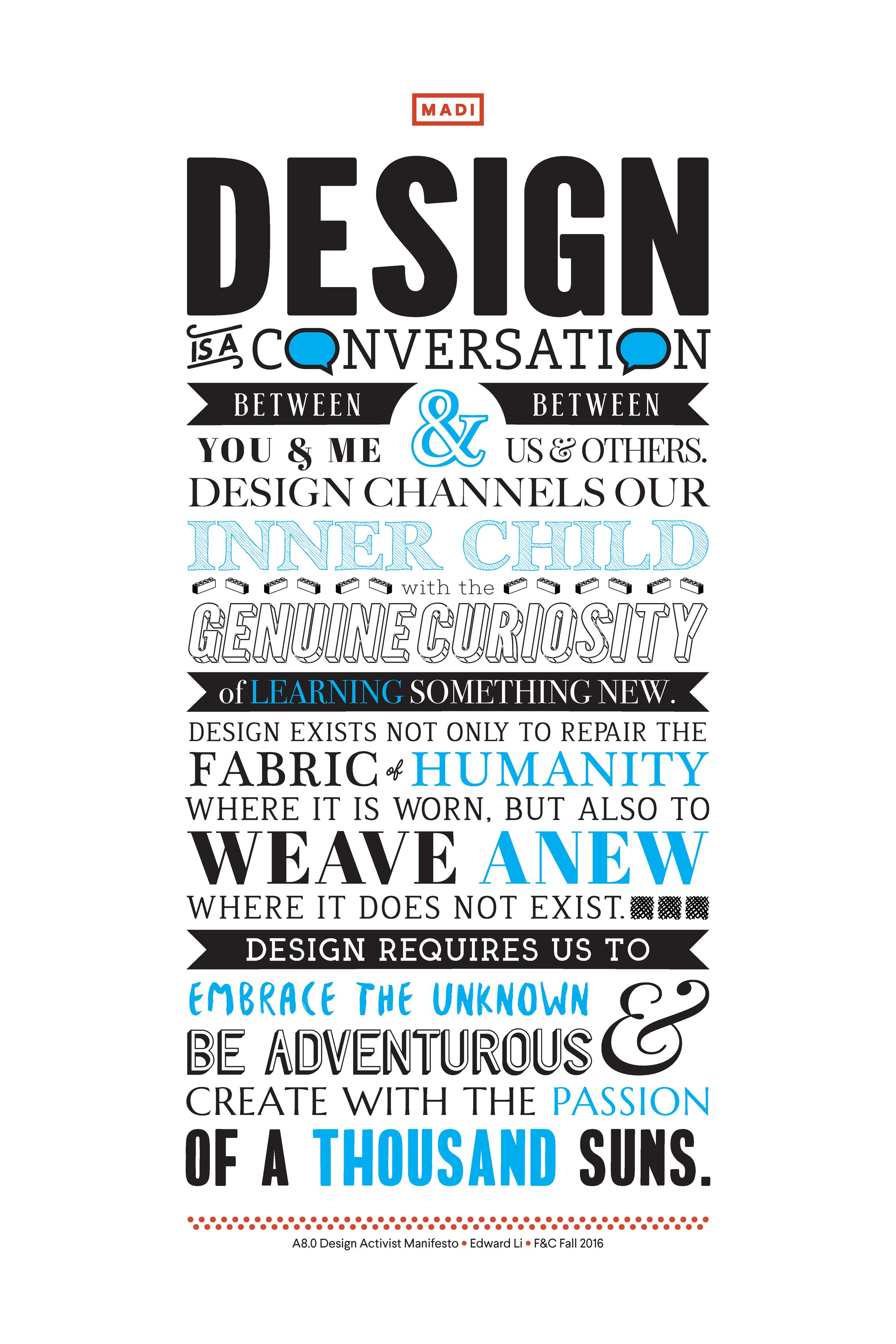 Design Activist Manifesto