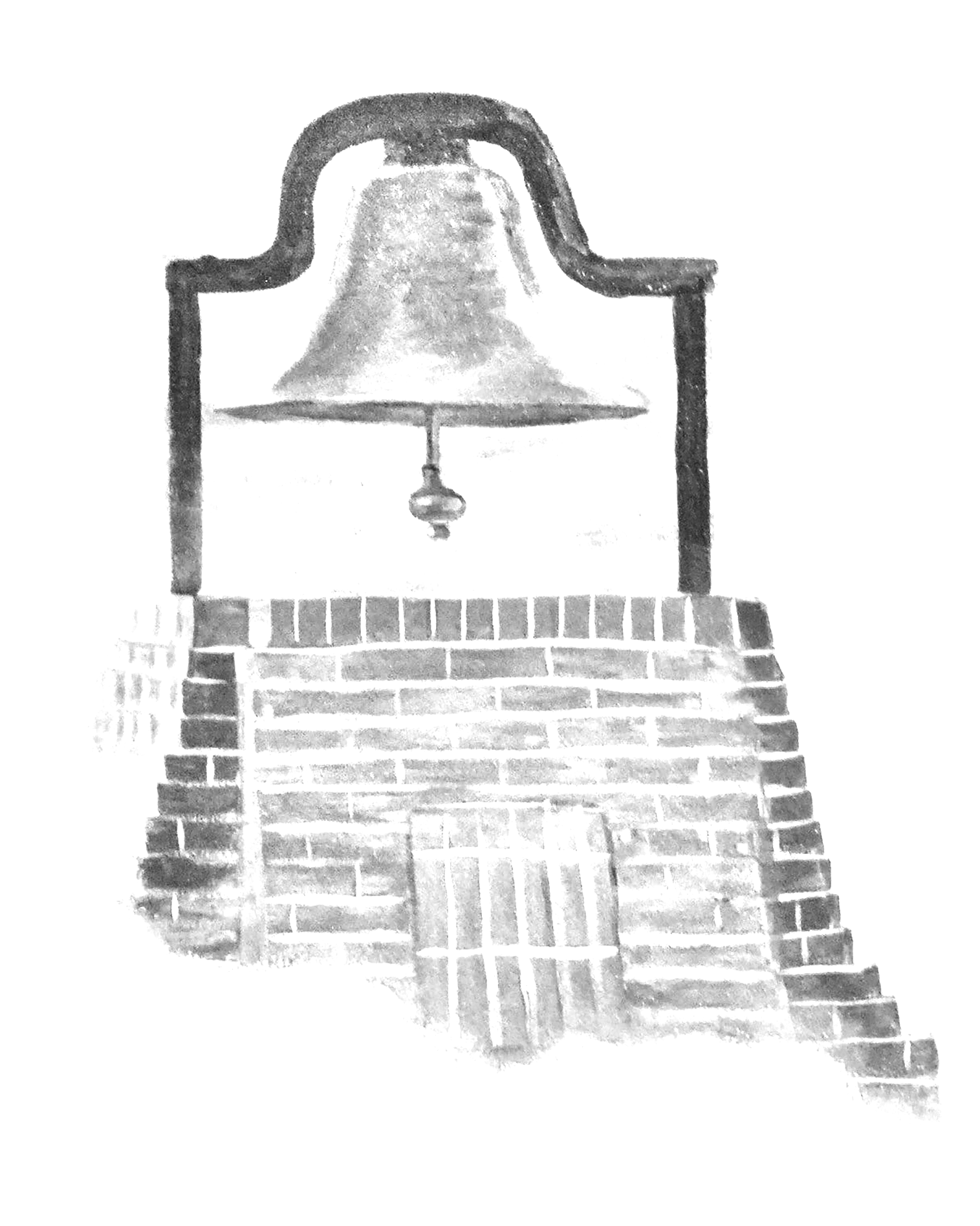 The Paul Quinn College Heritage Bell, a historic symbol of the school and its storied past.