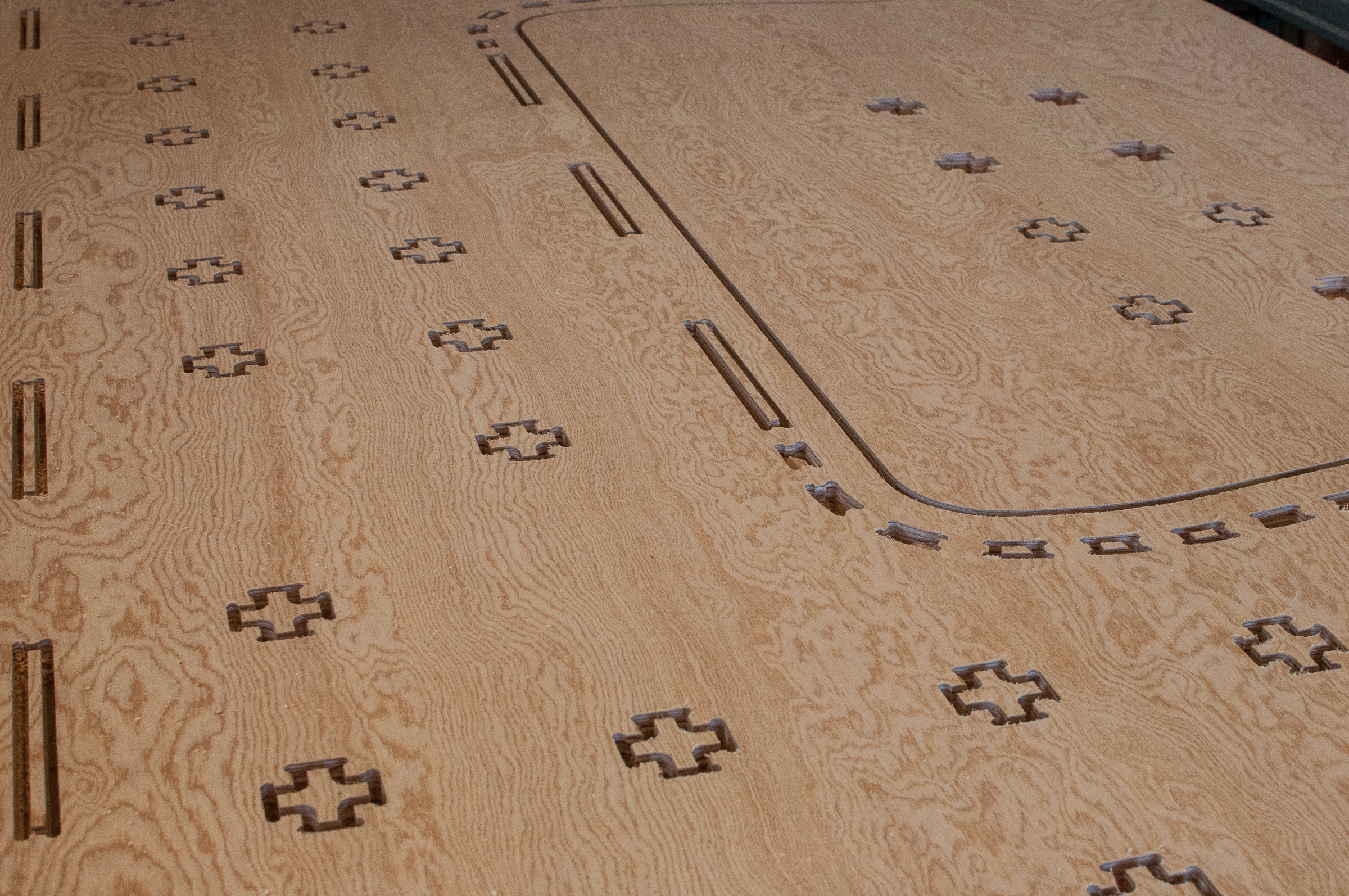Some of the finished CNC router cuts.