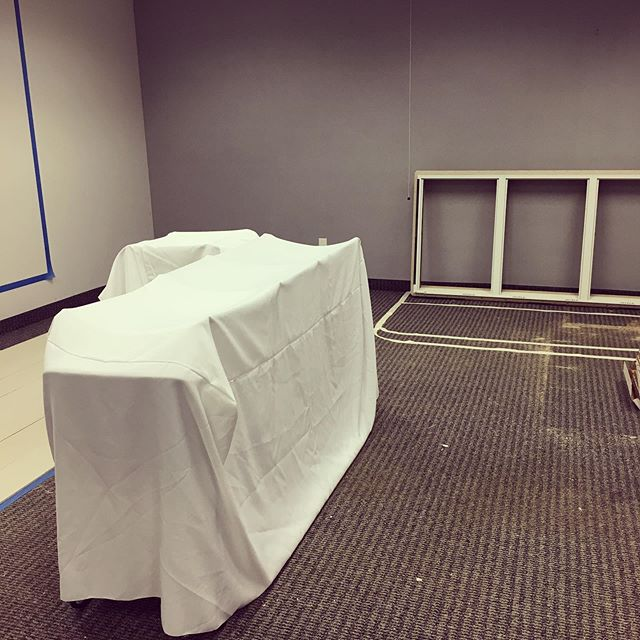 What piece of future furniture do you think the white sheet creation represents???? #comingsoon #yachtheist #escaperoom #wsnc #pinkysup