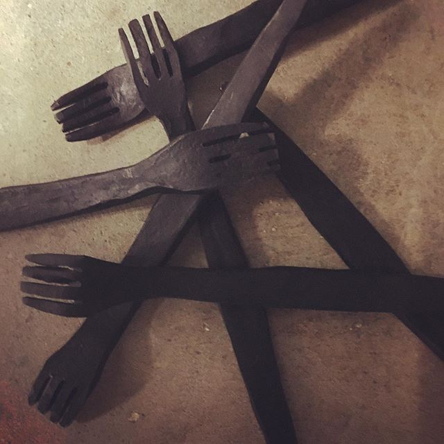 Fun fact: we keep extras on hand of nearly everything in our rooms. You never know when something is going to break or go missing! Big shout out to Jerry at Mill Creek Forge who made these for our Prison Break game. #escaperoom #wsnc #familyfun #forge #blacksmith #escapegame