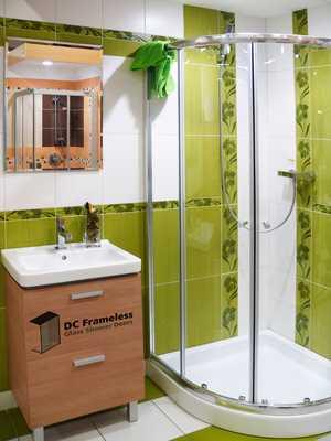round-shower-door