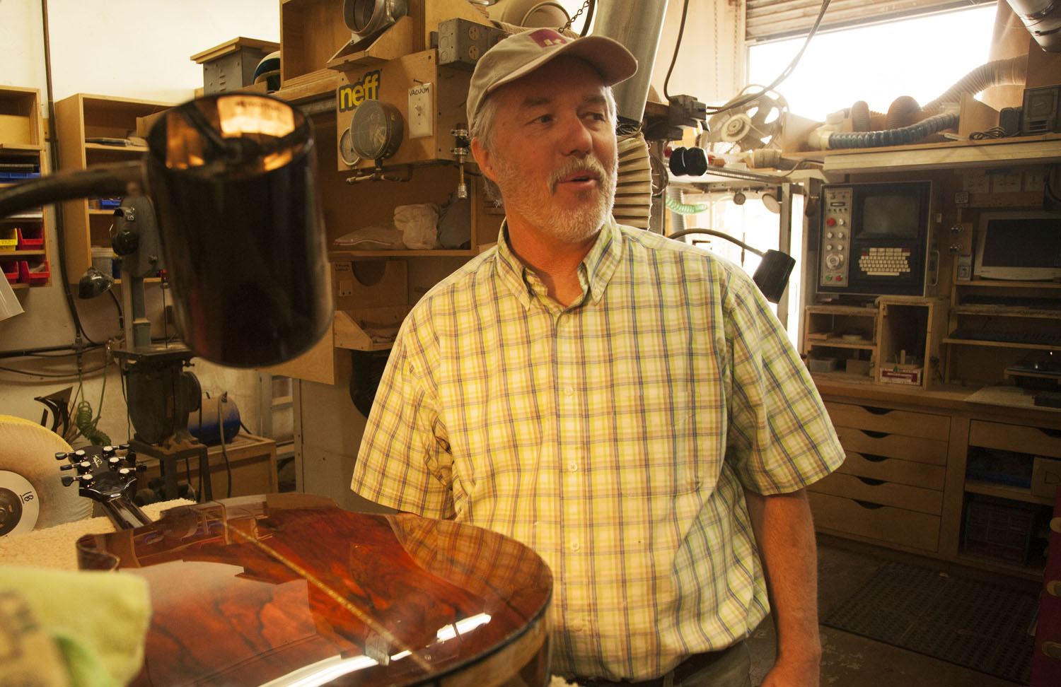 Luthier Kevin Ryan. Photo by Barak Wright.