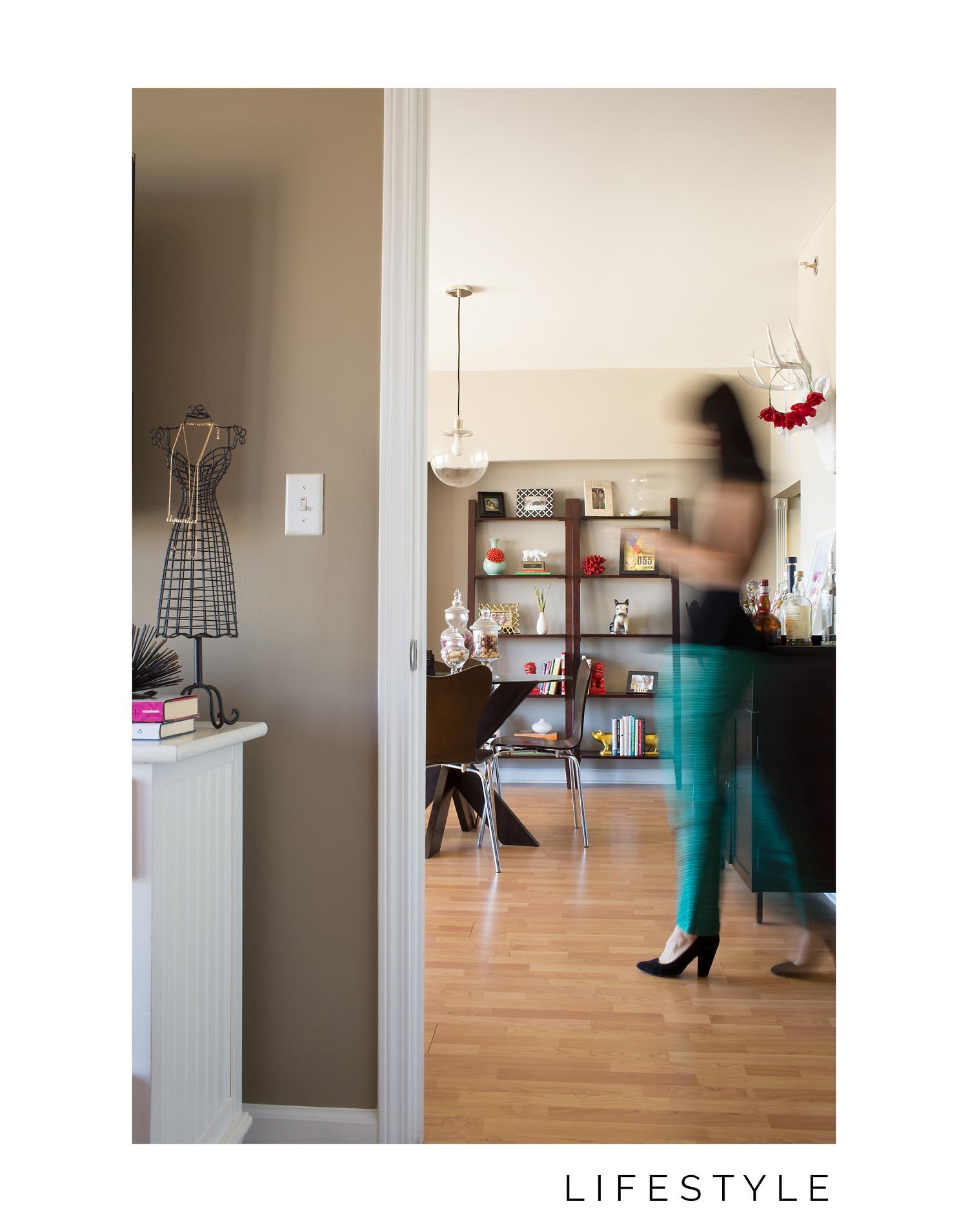 Atlanta interiors photographer in My Style Vita's home