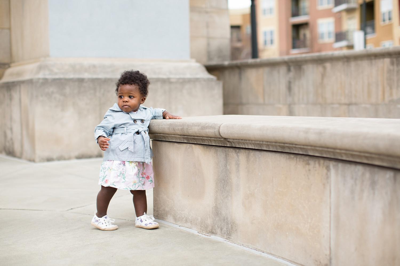 Baby girl in Carter's dress and coat