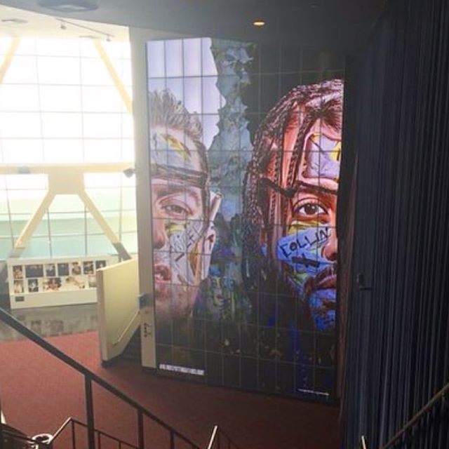 Artwork I did for the movie @blindspotting on display at @arclightcinemas written by and staring @daveeddiggs & @rafaelcasal @blindspotting will be In theaters on July 20th #lionsgate #oakland #oaklandart #blindspotting
