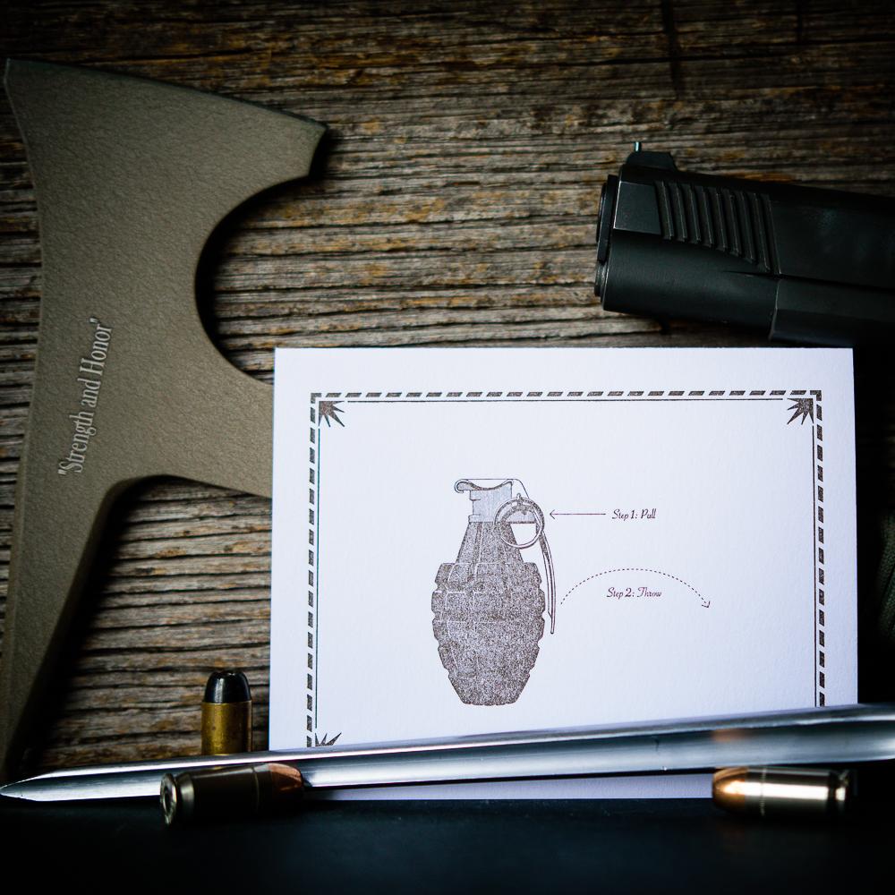 Grenade note card