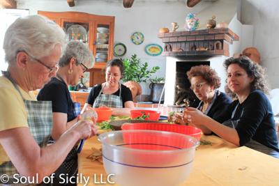 Classes at soul of sicily are intimate, relaxing and home style!