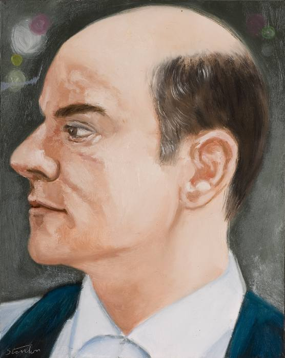 "Charles Ludlam  oil on canvas, 20x26"", 1984"