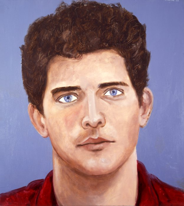 "Brad Gooch  oil on canvas, 50x56"", 1983"