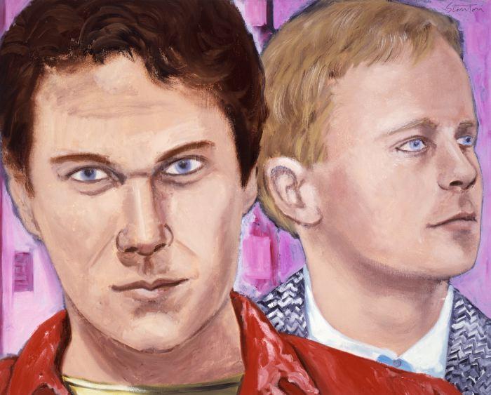 "Dennis Cooper, Donald Britton  oil on canvas, 24x30"", 1984"