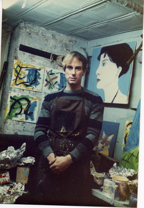 Larry in his first studio, circa 1981