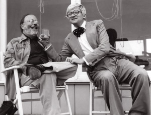Henry and David clowning, circa 1975, Fire Island, Photograph by Don Cribb