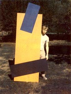 Larry at Storm King Art Center, NY, circa 1970