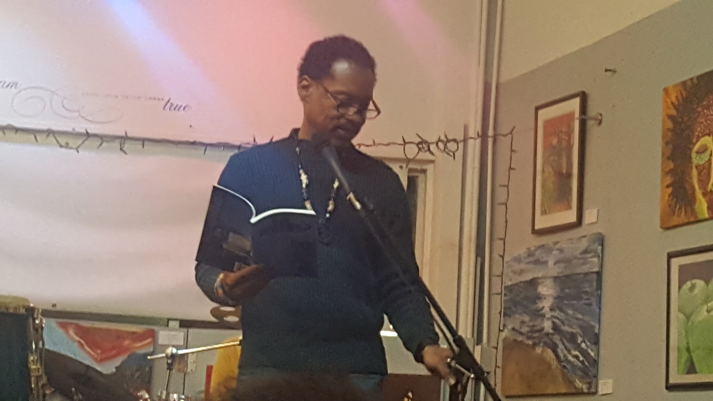 Vince reading the title poem from his book Got Words
