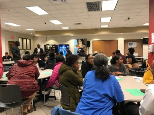 Table top discussions at the HBCU Panel (SHHS)