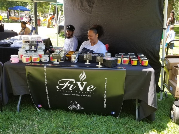 BLACKGIRLINCLE Five Candle Candles