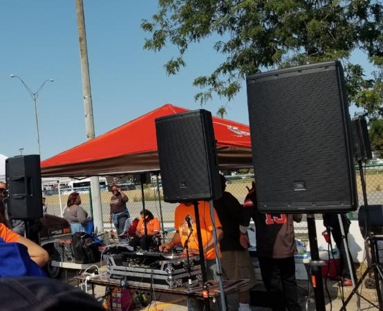 One of many DJs we saw