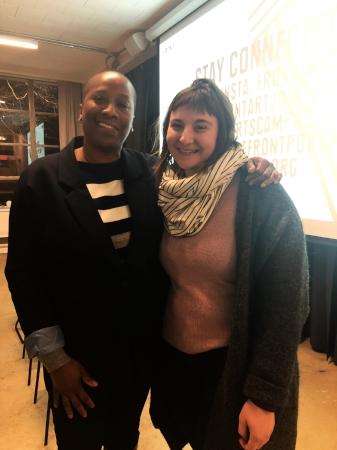 Program Director of Front International, Arlene Watson (pictured left)