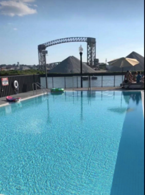 The view from the pool at FWD Day and Night Club