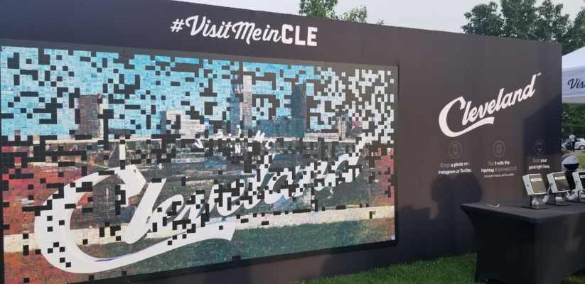 The Cleveland mosaic filled with photos from #VisitMeinCLE on socail media