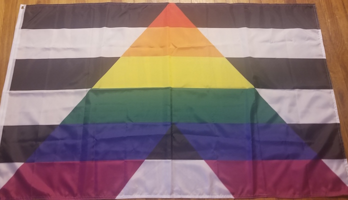 The Ally flag- Black and white symbolizes you are straight/hetero