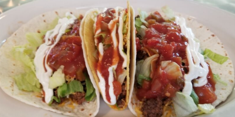 This picture doesn't do these taco justice.