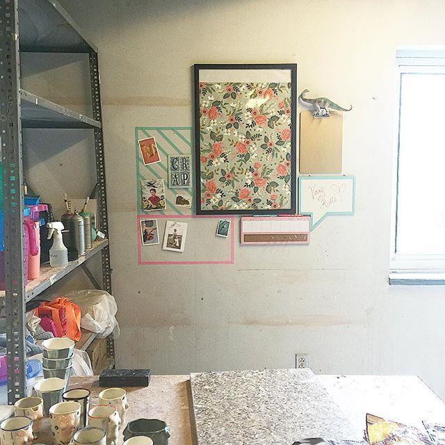 My studio space this semester. Weeeee 💗💗