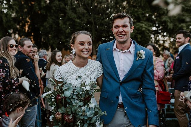 Everything about this wedding was perfect. Almost everything was designed and handmade by the bride and groom, even right down to the bouquet, leaf confetti and the wooden tables at the reception👌🏻