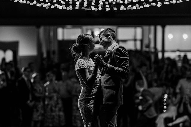 Finding the perfect vantage point to capture the couple's first dance is crucial to capturing moments like these 🙌🏻 For this wedding I was hiding behind a stage curtain 🙈 #creepin