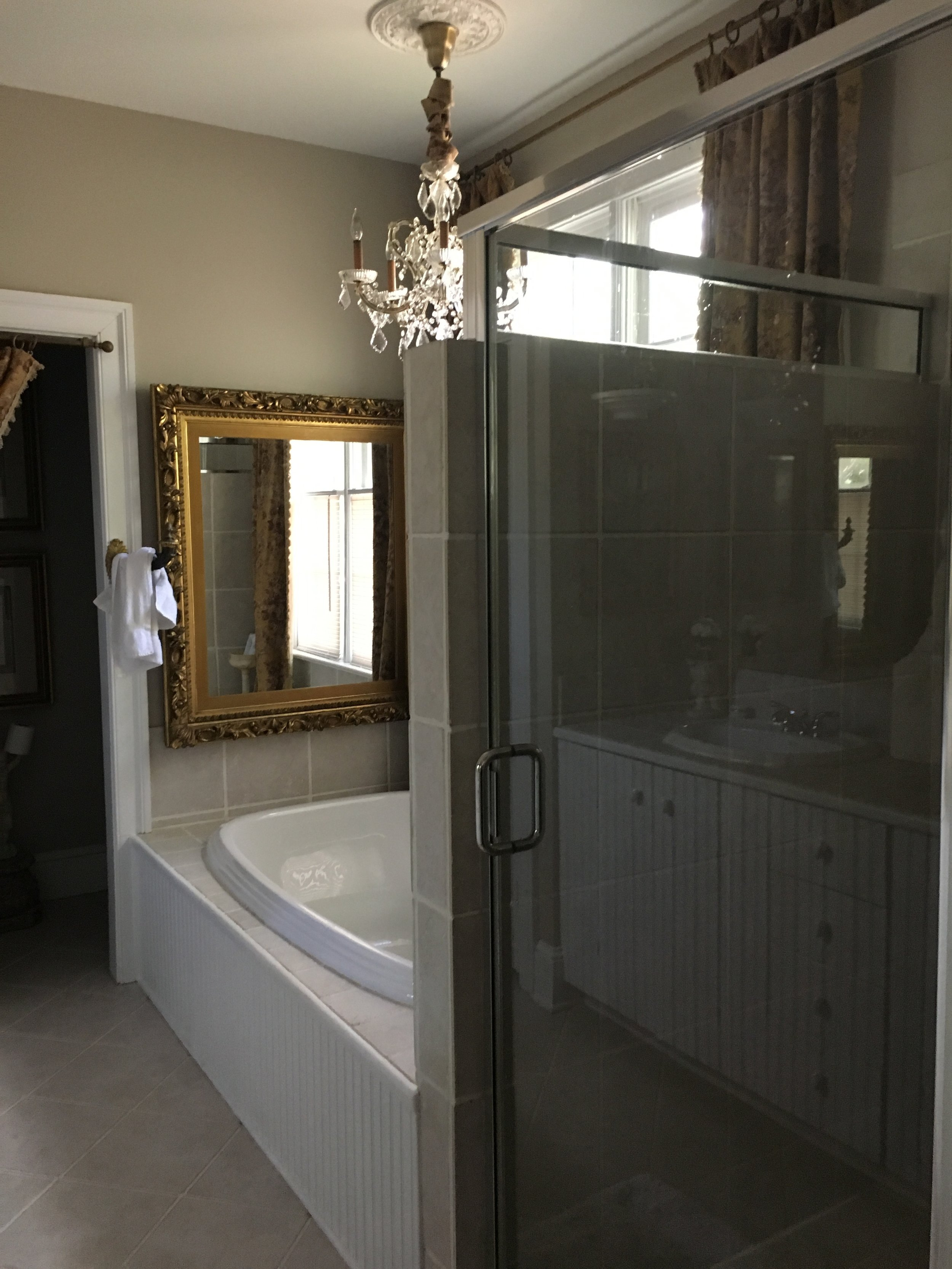 I so wish I would have taken advantage of this bathtub - it's so big and beautiful!