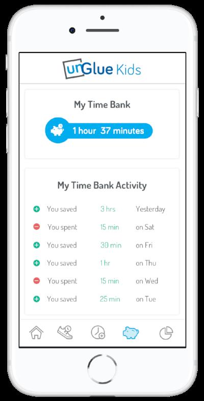 Kids App Time Bank unGlue