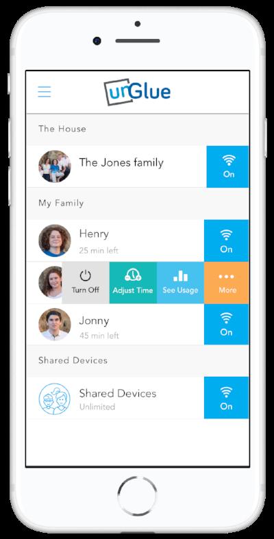 Parents app dashboard unGlue
