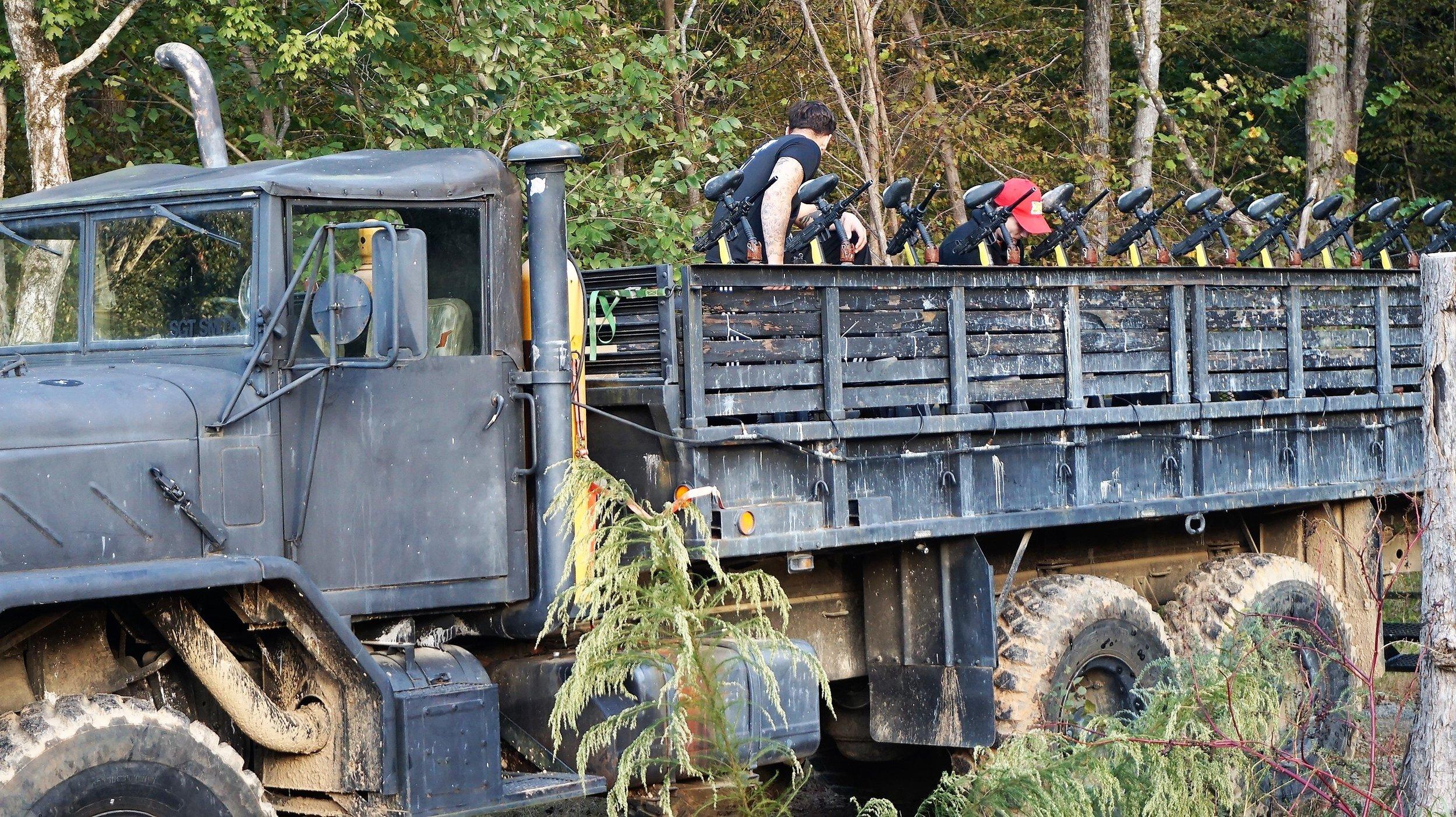 Xtreme Haunt military trucks