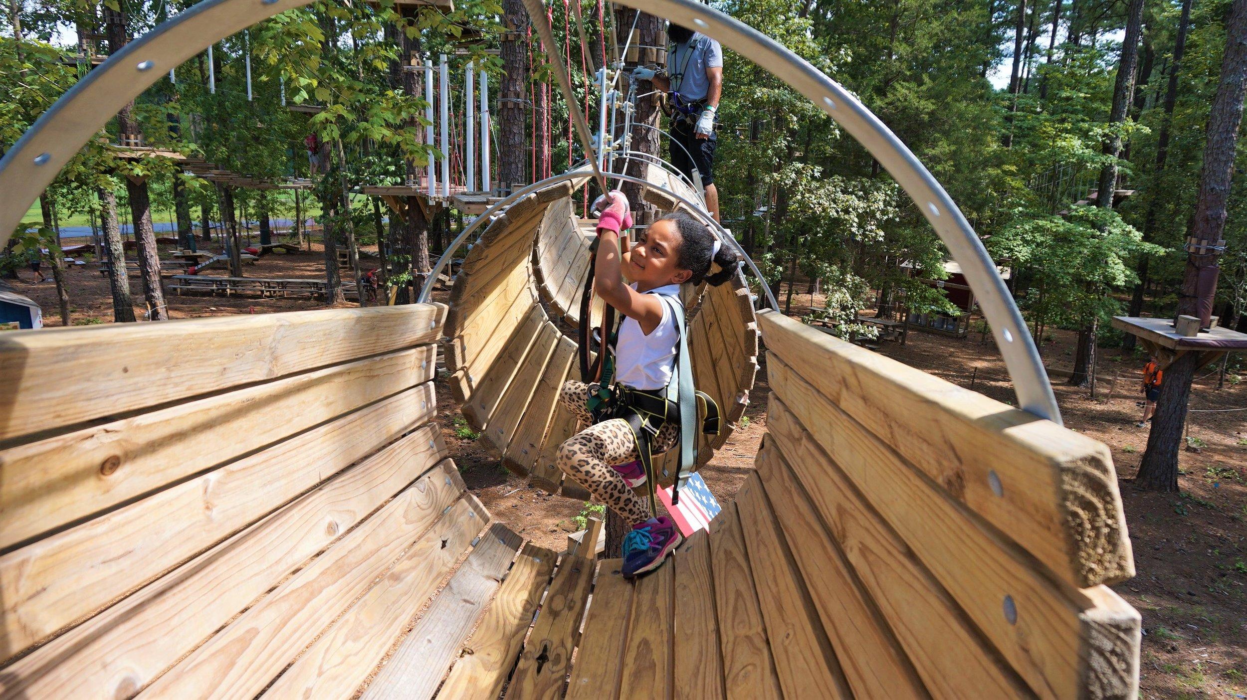 2 Peanut Butter Girls at TreeRunner Adventure Park Raleigh