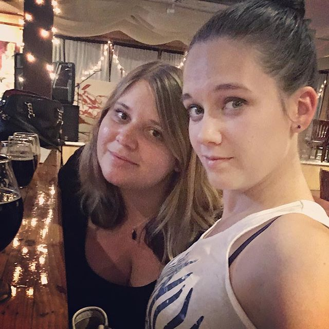 When you & your cousin take a picture that looks like a fuzzy 1990s camera photo 👌🏼📷💁🏼 . . . #cousins #beeristheanswer #family #love #sisterlylove #sister #girlsnightout #plusjohnny #vaca #rva #richmond #richmondva #theanswer