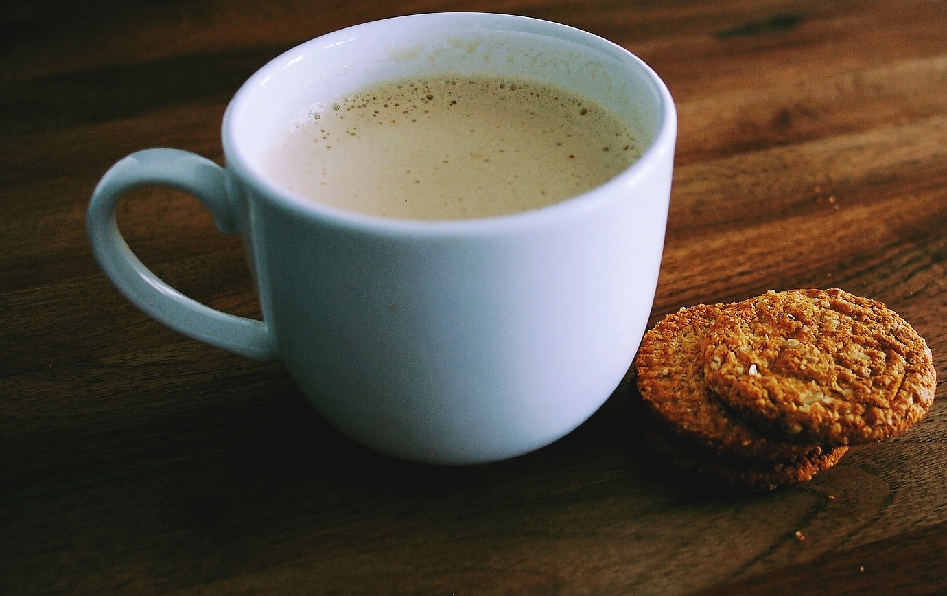 Nothing better than enjoying a cup of coffee, a couple cookies at the Green Bay Botanical Gardens, Green Bay, Wisconsin