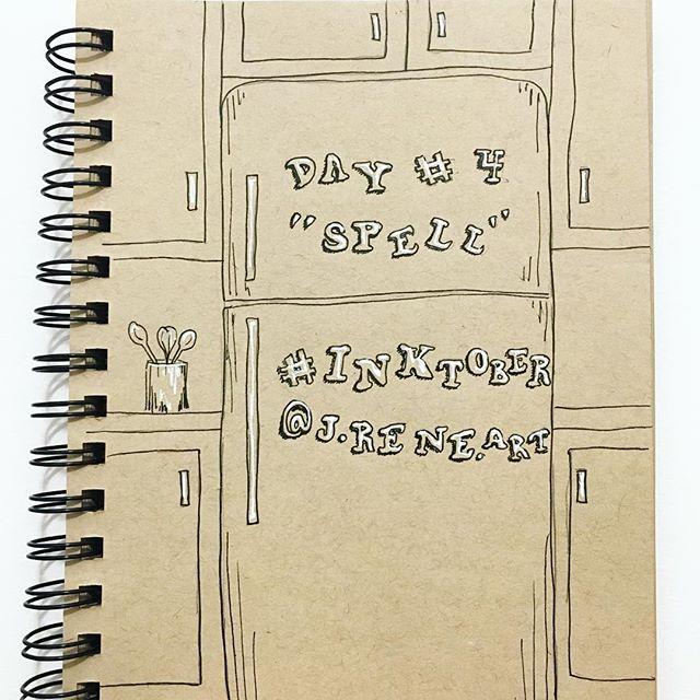 "#inktober2018day4 : ""spell"" 🖋 Retro entertainment... back when Mom was our spell check - abc☑️. . #inktober #jreneart #art #artistofinstagram #seattleartist #pnwartist #pnw #spell #ink #inkdrawing #tonedpaper #create #jhsinktober #inktober2018 #inktoberday4 #spelling #refrigeratoralphabet #alphabetmagnets #retro #spellcheck"