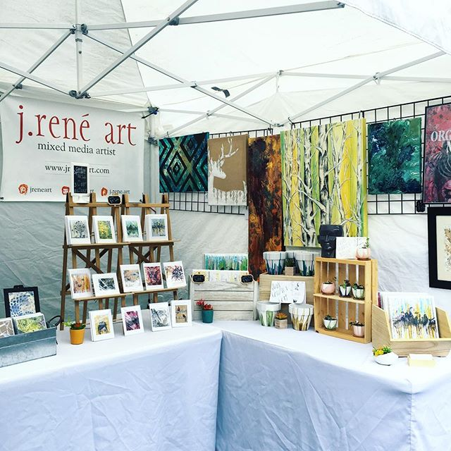 Here @salmondaysfest from 10-3 today and tomorrow!! Stop by booth# 192 to see me! 😉  #issaquahsalmondays #salmondaysfestival #salmondays #salmondays2018 #art #seattleartist #pnw #artfestival #pnwartist #jreneart